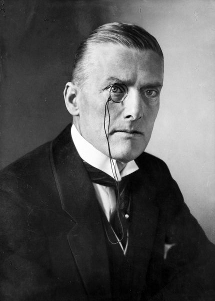 Portrait of Sir Austen Chamberlain, the English politician and Nobel Prize winner
