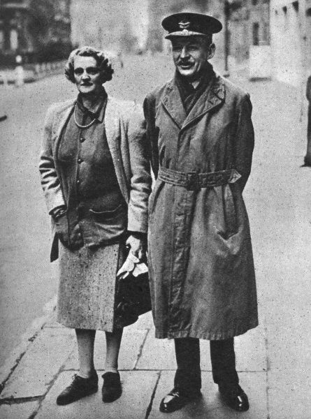 Air Chief-Marshal Sir Robert Brooke-Popham, pictured with his wife in London following their return from the Far East. Formerly the British Commander-in-Chief of the Far East command, Brooke-Popham had stepped down from the post at the end of 1941