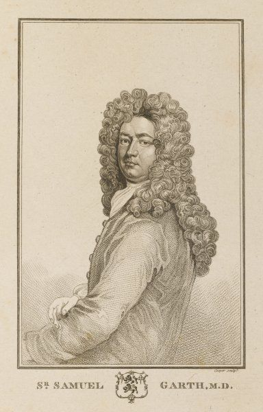 SIR SAMUEL GARTH physician and author of 'The dispensary&#39