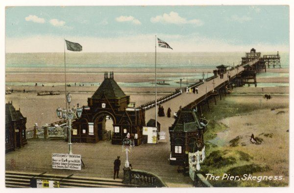 Skegness, Lincolnshire: the pier at low tide