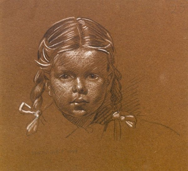 Sketch of a little girl -- Christine