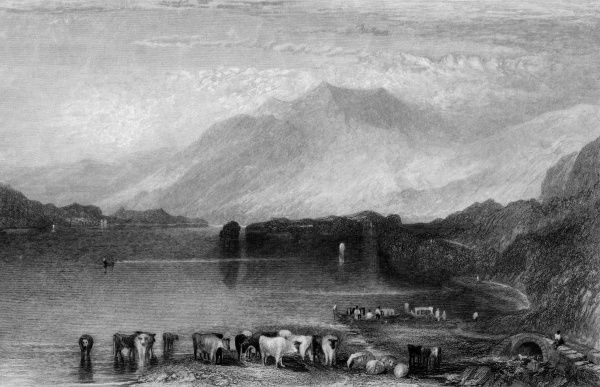 Distant view of Skiddaw, Cumbria Date: circa 1830