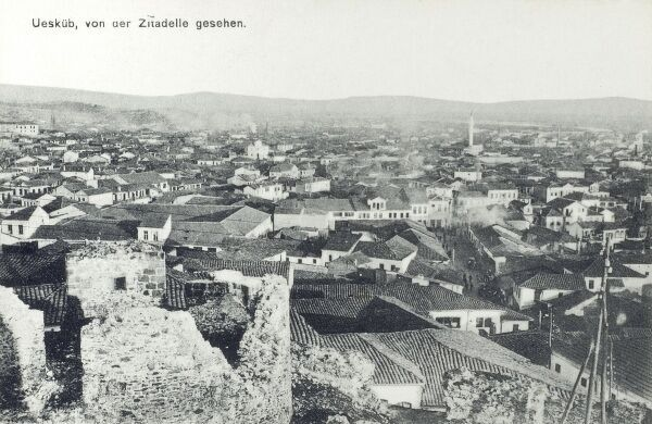 Skopje, Macedonia - View from the citadel Date: circa 1910s