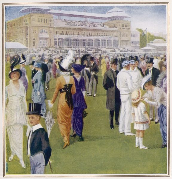 Social elite gather for the annual Eton and Harrow cricket match at Lords, London