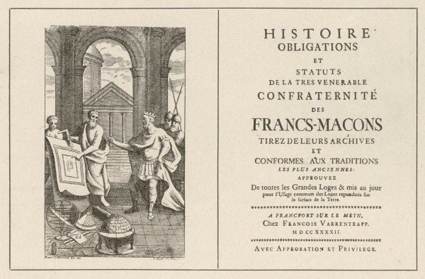 Constitutions of French masonic lodges as set out by De la Tierce, 1742