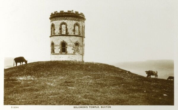 Solomon's Temple (also known as Grinlow Tower - a Victorian Folly), Buxton - Derbyshire Date: circa 1910s