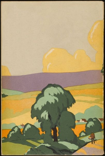 Somerset scenery, in art deco style. 1 of 2
