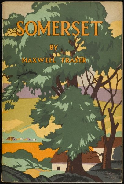 Somerset scenery in art deco style. 2 of 2