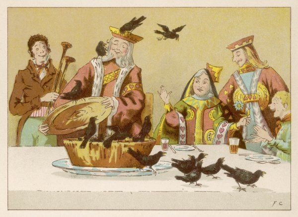 Sing a song of sixpence, a pocket full of rye, four-and- twenty blackbirds baked in a pie... (3 of 3)