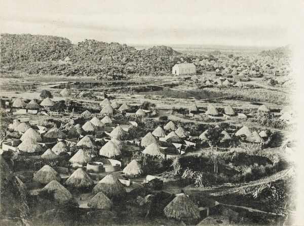 South Africa - The Moshudy Lenchwees Kraal Village in Northern Transvaal