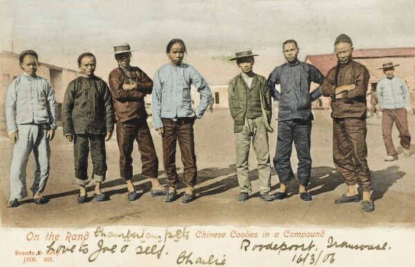 South Africa - Transvaal - Chinese Coolies in a Compound