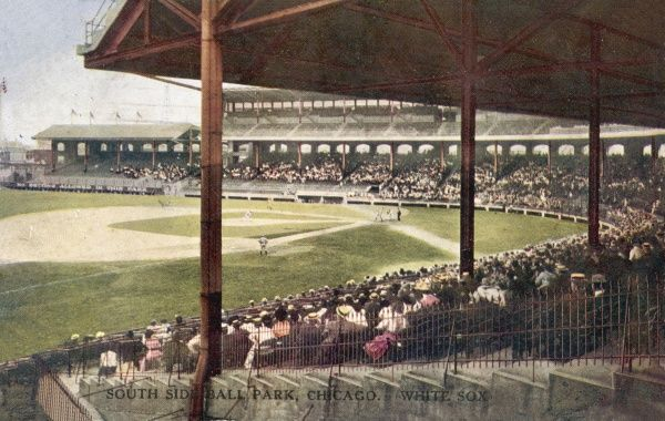 South Side Ball Park in Chicago, America, home of the Chicago White Sox c.1910