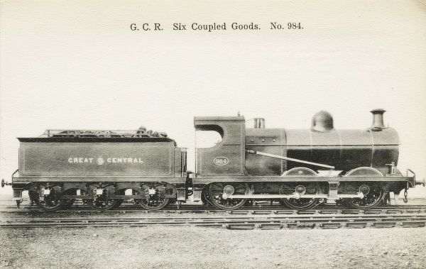 Locomotive no 984 six coupled goods engine Date