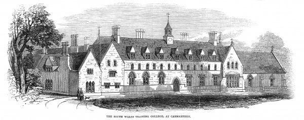The opening of South Wales training college at Carmarthen, 1848. Date: 1848