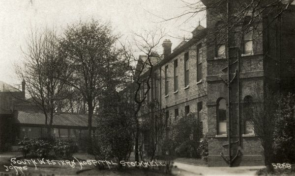 Ward blocks at the South Western Fever Hospital, opened in 1871 on Landor Road, Stockwell
