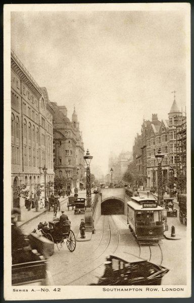 Southampton Row, Kingsway, with tram subway