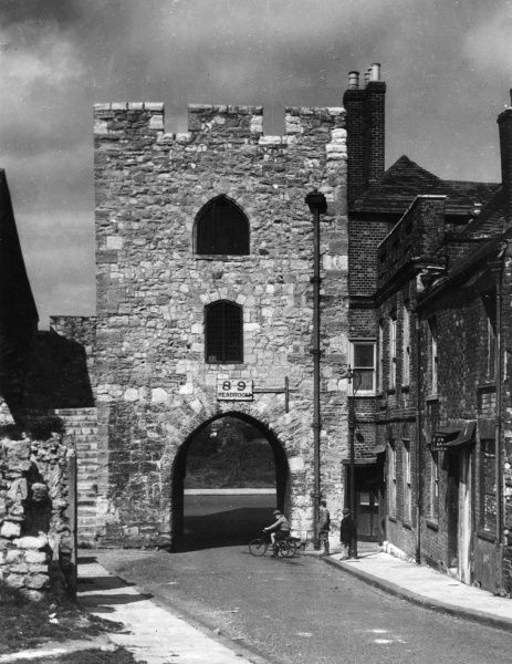 The Tower which formed the Old West Bar Gate of the city of Southampton, Hampshire, England and led to the Quay. Date: 13th century