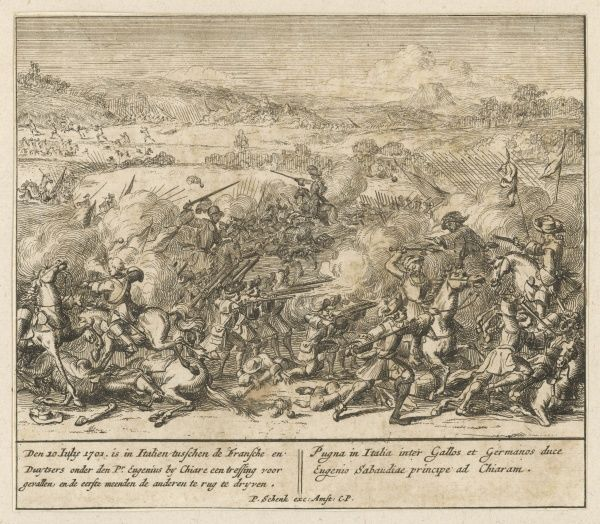 BATTLE OF CHIARI - the Imperial forces under prince Eugene repel an attack by the French and Spanish under the duke of Savoy
