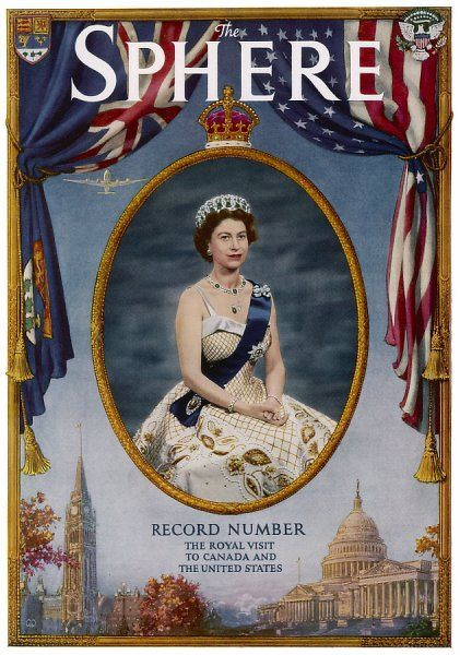 Queen Elizabeth II of Britain Royal visit to Canada and the United States. Issue dated 26th October 1957