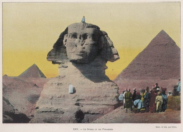 Sphinx and Pyramids at Giza