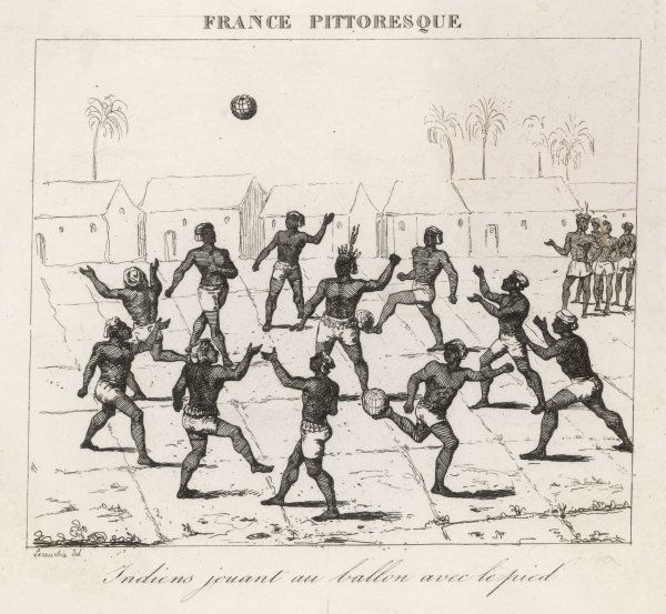 Native Guyanese Indians play a regional variant of football, reliant it appears on keeping the ball in the air using clever ball skills