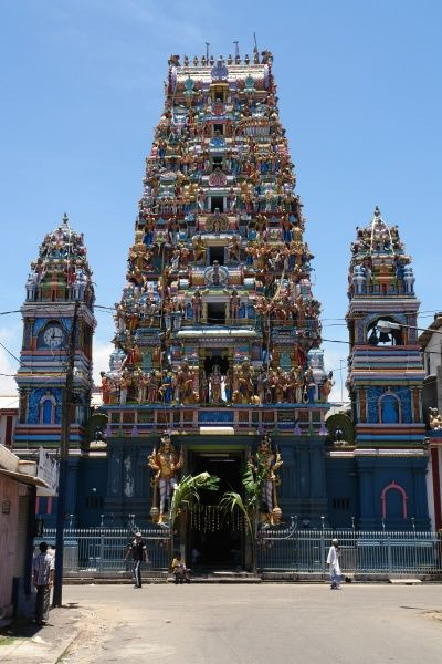 The Sri Sivasubramaniya Swamy Temple in Colombo, Sri Lanka -- a venue for the annual Hindu Vel Festival
