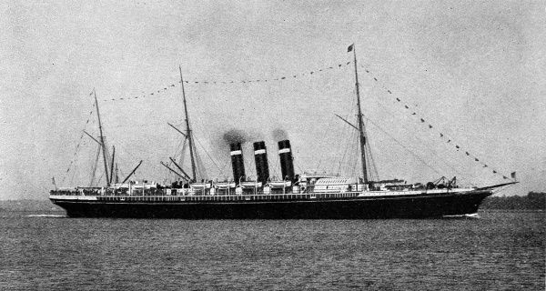 Photograph of the passenger liner, SS 'New York', built 1888 and acquired by the United States Government in 1898