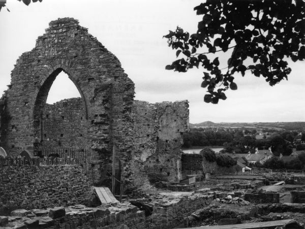 The ruins of St. Dogmell's Priory Abbey, Pembrokeshire, Wales. Date: 12th century