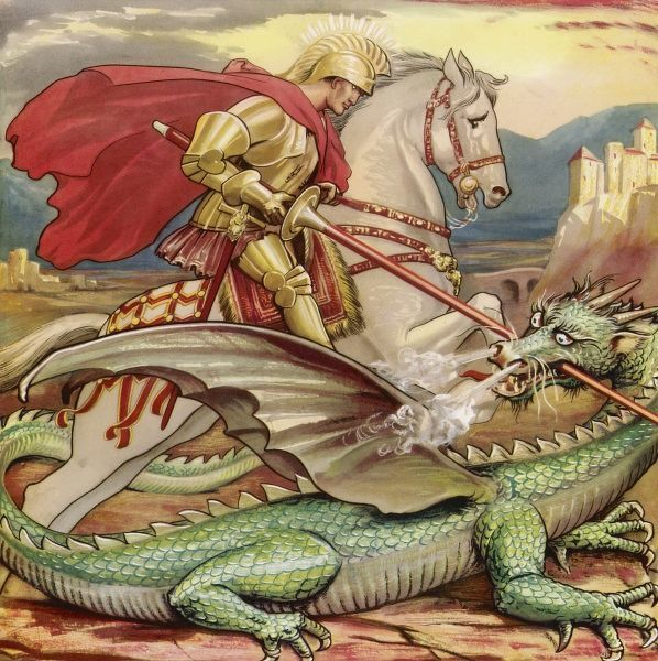 SAINT GEORGE Slays the dragon
