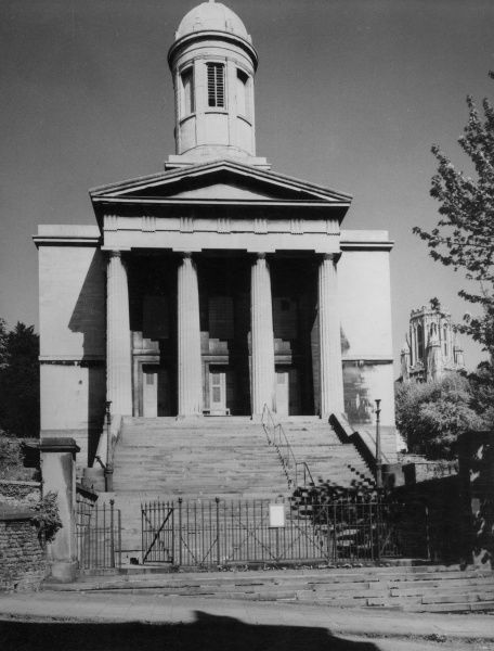 St. George's Church, Brandon Hill, Bristol, England. where WILLIAM GREEN, cinematography pioneer, married HELENA FRIESE in 1874, and changed his name to WILLIAM FRIESE-GREENE. Date: 1950s