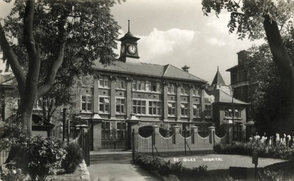 The administrative offices of Camberwell St Giles Hospital, formerly part of the Camberwell workhouse on Havil Street, now St Giles Road, south east London