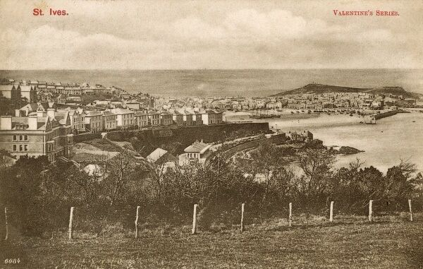 St. Ives, Cornwall - Panoramic View Date: circa 1907