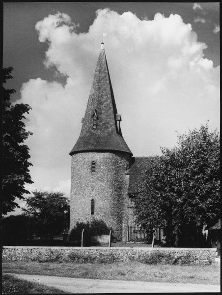 St. Leonard's Church, Broomfield, Essex, dating back to Saxon times, one of the five round tower churches left in the county