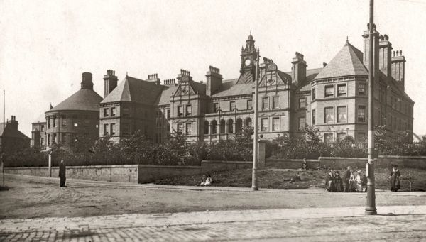 St Luke's Hospital at Skircoat, Halifax, West Yorkshire, during its First World War occupation as a military hospital