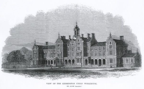 In 1847-8 the parish of St Mary Abbots, Kensington, south west London, erected a workhouse at the east of Wright's Lane (now Marloes Road)