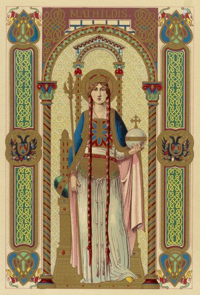 SAINT MATILDA Queen of Henry I of Germany, noted for her philanthropy; she founded many convents
