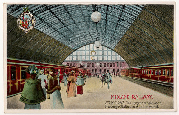 With its magnificent canopy the Midland Railway terminus claims to be the largest single span passenger station in the world