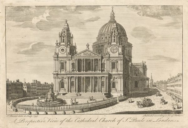 The cathedral church of St Paul's in London, in the mid-18th century