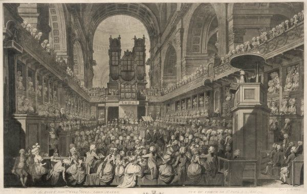 The service of thanksgiving at St Paul's Cathedral for the King's recovery from a series of alarming fits and madness. His sons chewed biscuits rudely during the service