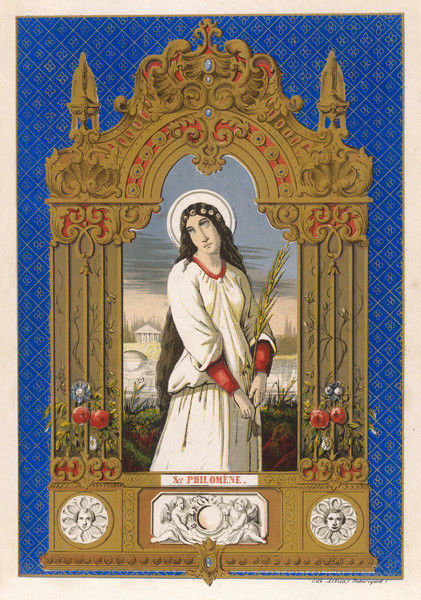 SAINT PHILOMENA who never was : her existence arose from a mistaken reading of stones found with human remains at Rome on 25 May 1802