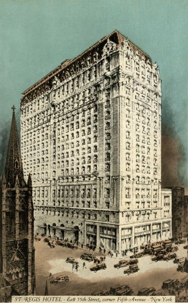 St. Regis Hotel on Fifth Avenue and 55th Street, New York City, America
