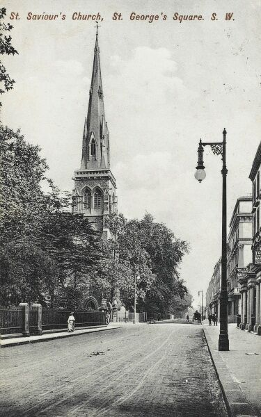 St Saviour's Church - St George's Square, Pimlico, London - viewed from the north