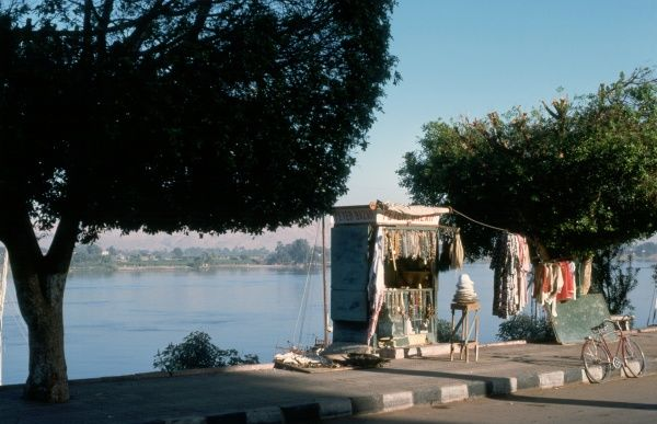 A small Bazaar on the banks of the Nile supplying a wide variety of merchandise from a very small hut