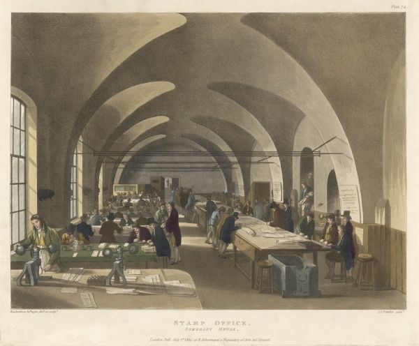 Housed in Somerset House : at this time the government derived substantial duty from the stamping of documents of all kinds, including newspapers
