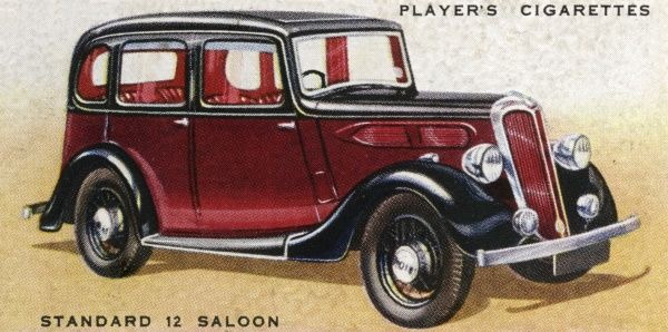 Standard saloon, a popular family car of the day. Date: 1936