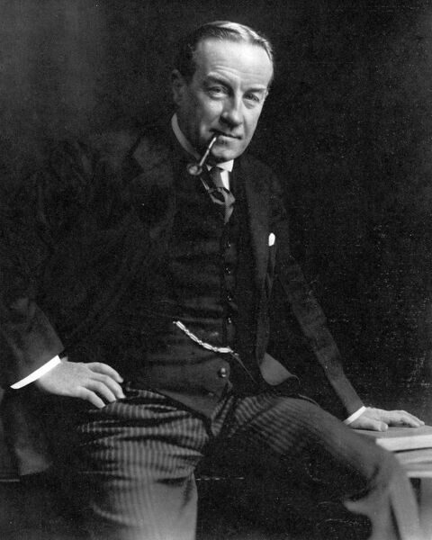 Portrait of Stanley Baldwin, 1st Earl Baldwin of Bewdley; the Conservative politician and Prime Minister