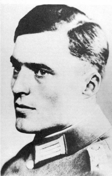 CLAUS SCHENK GRAF VON STAUFFENBERG Lieutenant colonel on the General Staff and central figure among the conspirators of the July Plot