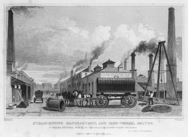 Rothwell, Hick & co's steam engine manufactory at Bolton, Lancashire