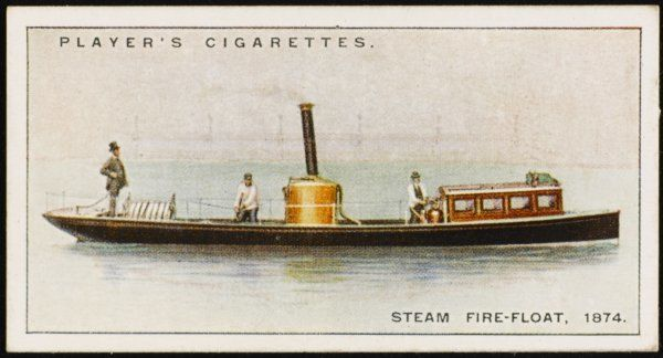 A fire-boat designed and constructed by Merryweathers for the River Wear Commissioners. The pumps could throw any type of water, however muddy or salty