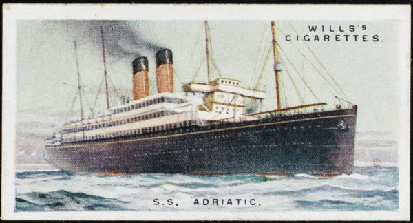 White Star liner on the Atlantic crossing
